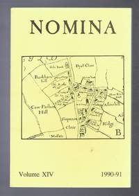 Nomina. Vol. XIV (14) - 1990-91, A journal of name studies relating to Great Britain and Ireland
