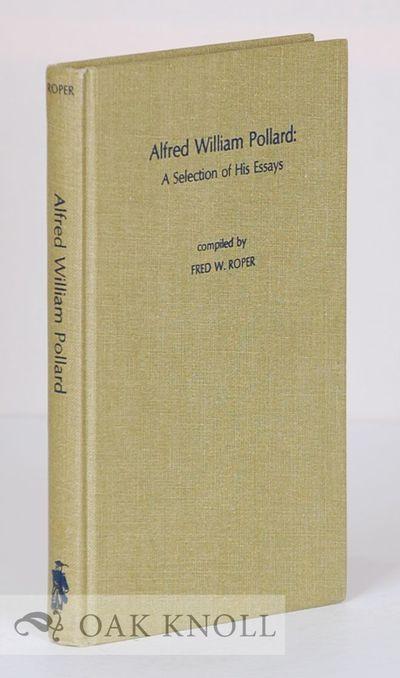 Metuchen: Scarecrow Press, 1976. cloth. Pollard, Alfred W.. 8vo. cloth. viii, 244 pages. First editi...