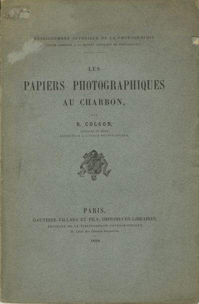 Paris: Gauthiers-Villars et Fils, 1898. First edition, second printing. Small 4to., (vi), 82 pp. The...