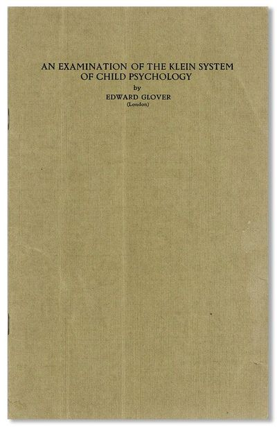 . Offprint. Octavo (24.5cm.); publisher's green printed staplebound wrappers; 43pp. Minor wear to wr...