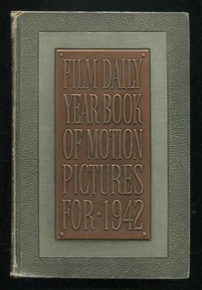 New York: The Film Daily. Very Good. (c.1942). 24th Annual. Hardcover. (silver/black textured boards...