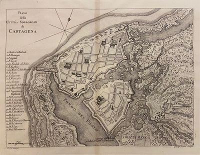 Livorno: Marco Coltellini, 1763. VANNI, Violante. Map. Engraving. Image measures 7 1/2