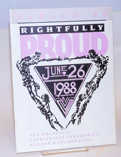 San Francisco: Lesbian/Gay Freedom Day Committee, 1988. Magazine. 48p., 8x11 inches, events, route, ...