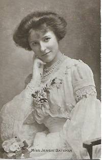 image of Miss Jessie Batemen -Edwardian Era Stage Actress-Postcard1910