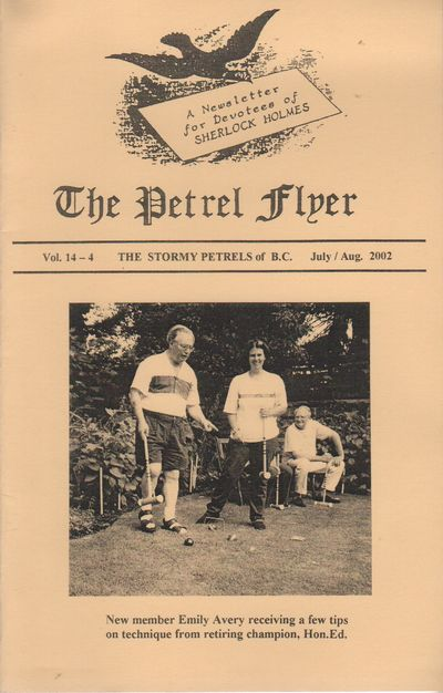 (Vancouver, BC): (The Petrel Flyer), 2002. First Edition. Wraps. Fine. 8vo. Saddle-stapled wraps. Fi...