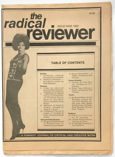 Vancouver: The Radical Reviewer, 1983. 27p., tabloid newspaper format, evenly toned, otherwise very ...