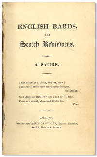 ENGLISH BARDS, AND SCOTCH REVIEWERS. A SATIRE