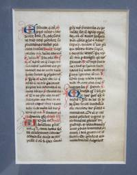 image of A Leaf from a Medieval Manuscript Breviary