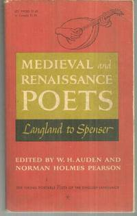 Image for MEDIEVAL AND RENAISSANCE POETS Langland to Spenser