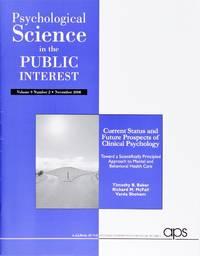 image of Psychological Science In the Public Interest (Vol 9 Number 2, November 2008)