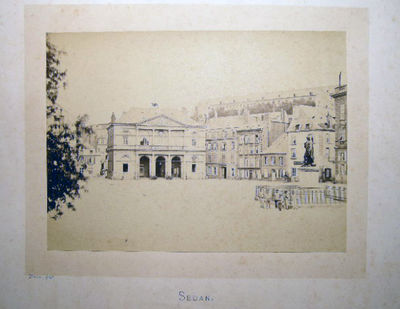 Sedan, France: Hector Husson, 1870. Large format albumen process photographic image of this view of ...