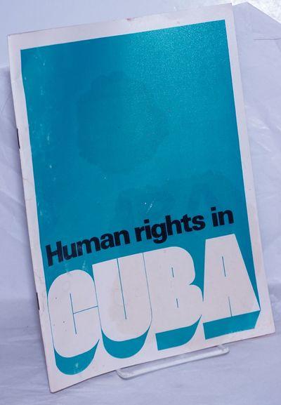 Havana: Ministerio de Relaciones Exteriores de la Republica de Cuba, 1990. Pamphlet. 31p. plus a doz...