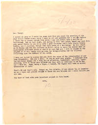 "Typed letter signed Tennessee Williams (""10"") to (""Dear Danny"")"