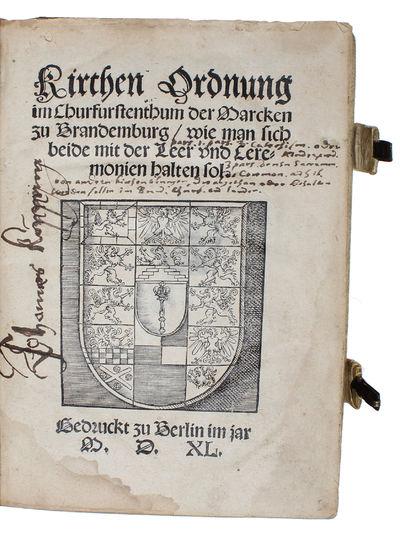 Kirchen Ordnung im Churfurstenthum...