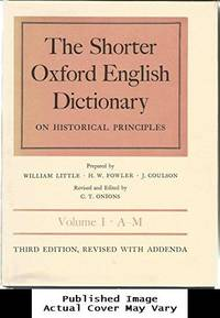 image of Shorter Oxford English Dictionary Third Edition Revised