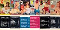 Xcitement in Pictures (6 vintage adult digest magazines, 1956-57)