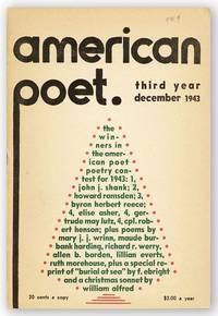 American Poet. Vol. III, no. 9, December, 1943
