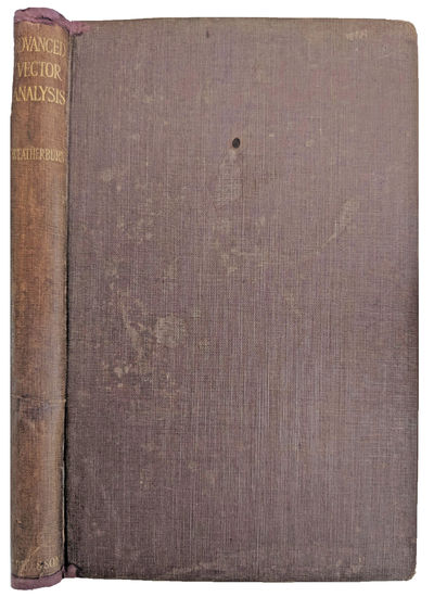 London:: G. Bell, 1924., 1924. 8vo. xiv, , 222 pp. 36 figs. Brown gilt-stamped cloth; , soiled, spin...