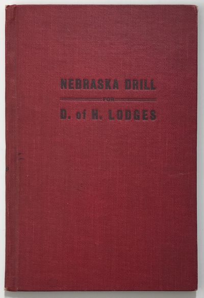 Omaha: Klopp & Bartlett Co, 1903. Very good.. 44pp. Original red cloth, cover stamped in black. Corn...
