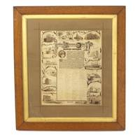 A very large albumen paper photograph, reproducing an illuminated address presented to John Dunn...