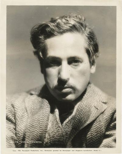 Los Angeles: Paramount Pictures, 1934. Vintage portrait photograph of Josef von Sternberg, 1934.