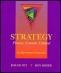 Strategy: Process, Content and Context - An International Perspective