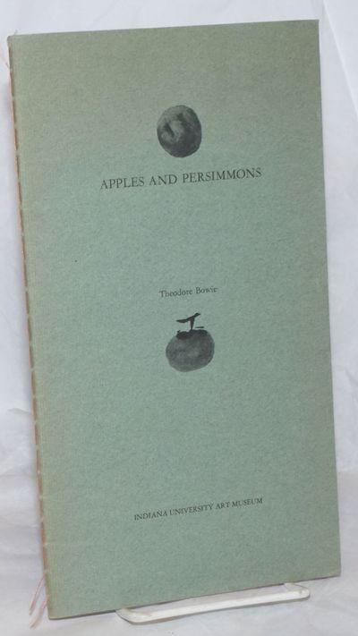 Bloomington: Indiana University Press, 1966. Pamphlet. Unpaginated concept item given finepress trea...