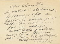 Autograph Letter Signed, in Italian, 8vo, n.p., n.d.