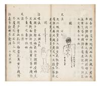 """Manuscript on paper, entitled in manuscript on title label on upper cover & on first leaf: """"Kyuji hizoku den"""" [""""Acupuncture Treatments Passed on from Many Sources""""]"""