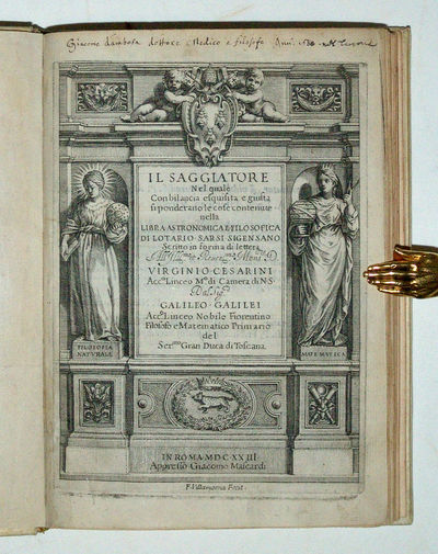 Rome: Giacomo Mascardi, 1623. First edition, first issue of an outstanding document in the history o...