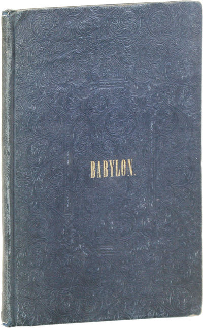 Hartford: Canfield and Robins, 1838. First Edition. Hardcover. Slim octavo (24cm.); publisher's gree...