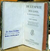 De L'Esprit Des Lois by Montesquieu