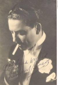 Postcard photo signed and inscribed (Debroy, 1890-1952, Big Band Leader)