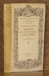 MEMORIE DE GIOVINEZZA E DI GUERRA (1740-1763)