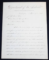 Handwritten letter, signed by Joseph E. Johnston, Commissioner of Railroads (CSA General)