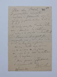 Autograph Letter Signed by  Edouard-Jean (1868-1940) VUILLARD - Signed - 1930 - from Argosy Book Store (SKU: 291293)