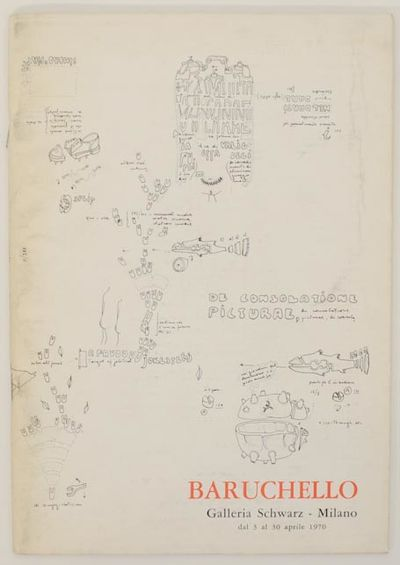 Milan: Galleria Schwarz, 1970. First edition. Softcover. 36 pages. Exhibition catalog for a show tha...