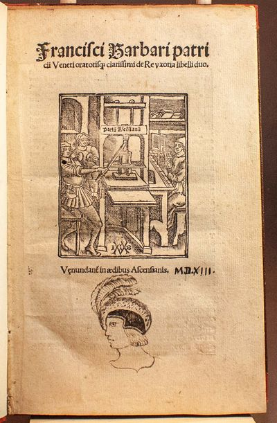 Paris: Josse Bade, 1513. First edition. First appearance in print of the most influential fifteenth-...
