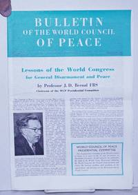 image of Bulletin of the World council of Peace 1962 Sep