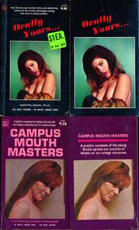 Orally Yours... / Campus Mouth Masters (2 vintage adult paperbacks, Candy Earle cover model)