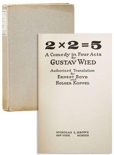 New York: Nicholas L. Brown, 1923. First English Language Edition. Octavo (19.25cm.); original grey ...