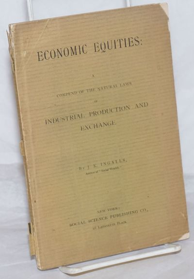 New York: Social Science Publishing Co, 1887. Paperback. 63p., wraps, 5x7.5 inches, wraps chipped an...