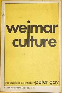 image of Weimar Culture the Outsider As Insider