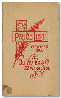 PRICE LIST OCTOBER 1900 [wrapper title]