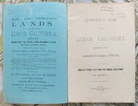Description of Lands in Lower California for Sale by the International Company of Mexico. Absolute Patent Title from the Federal Government of Mexico
