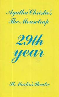 Agatha Christie's Mousetrap 29th Year - St Martin's Theatre [Souvenir Program]