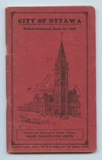 image of City of Ottawa Pocket Reference Book for 1928