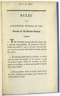 RULES FOR CONDUCTING BUSINESS IN THE SENATE OF THE UNITED STATES