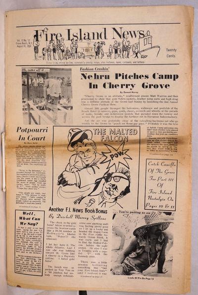 Ocean Beach: Fire Island News, 1968. Newspaper. 20p., folded tabloid newspaper, photographs, article...