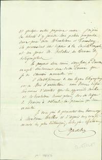 Autograph letter signed to Charles Vincent Walker
